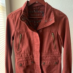 Red/brown utility jacket